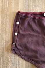 C/Meo Collective Burgundy Hi Waist Ribbed Shorts