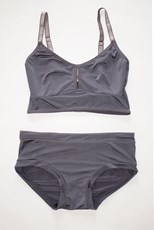 C/Meo Collective Classic Bralette Set in Gray