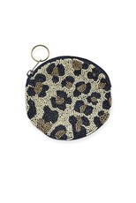 Hourglass Boutique Leopard Beaded Coin Purse
