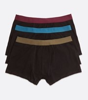 New Look 3 Pack Black Contrast Waistband Boxers