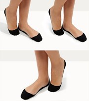 New Look 3 Pack Black Invisible Socks