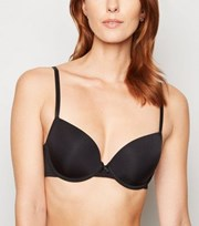New Look Black Bow Front T-Shirt Bra