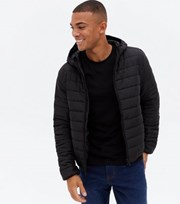 New Look Black Hooded Puffer Jacket