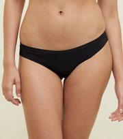 New Look Black Lace Back Seamless Brazilian Briefs