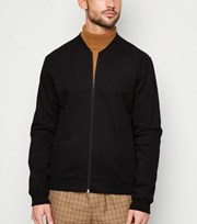 New Look Black Lightweight Bomber Jacket