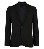 New Look Black Skinny Fit Suit Jacket