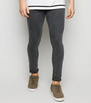 New Look Black Washed Super Skinny Jeans