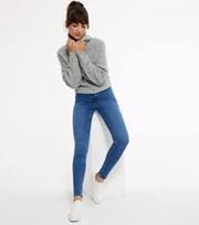 New Look Blue High Waist Hallie Super Skinny Jeans