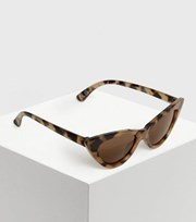 New Look Girls Brown Tortoiseshell Effect Cat Eye Sunglasses