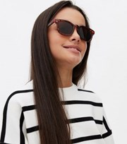 New Look Girls Dark Brown Tortoiseshell Effect Retro Sunglasses