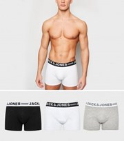 Jack & Jones 3 Pack Grey Boxers