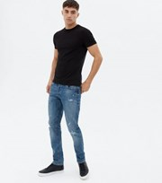 Jack & Jones Blue Ripped Skinny Jeans