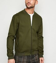New Look Khaki Lightweight Bomber Jacket