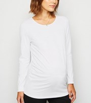 New Look Maternity White Long Sleeve T-Shirt