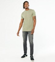 New Look Pale Grey Washed Skinny Stretch Jeans