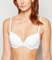 New Look White Bow Front T-Shirt Bra