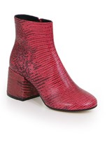 Mm6 By Maison Margiela ANKLE BOOT WITH CHUNKY HEEL LIPSTICK RED