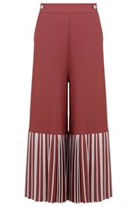 Bodice Studio BOTTOM PLEAT CULOTTES EARTHY PINK/IVORY