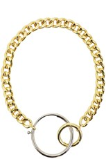 Maison Margiela CHUNKY CONTRAST CIRCLE NECKLACE GOLD