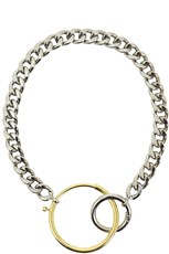 Maison Margiela CHUNKY CONTRAST CIRCLE NECKLACE SILVER