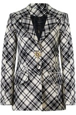 Ellery CLOUDY FRIDAY CHECK JACKET BLACK/WHITE