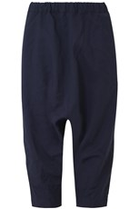 Comme Des Garcons CRINKLED DROP CROTCH PANT NAVY