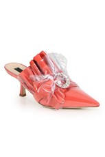 Midnight00 CRYSTAL MULE HEEL 45MM CORAL
