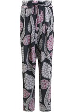 Isabel Marant EVERSON RELAXED PANT WITH PAISLEY PRINT BLACK