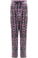 Isabel Marant EVERSON RELAXED PANT WITH PAISLEY PRINT RASPBERRY