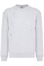 Marnie Skillings LIGHTNING BOLT CREW NECK SWEATER GREY