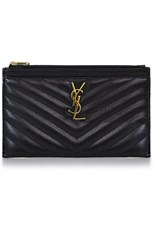 Saint Laurent MONOGRAMME BILL POUCH BLACK/GOLD