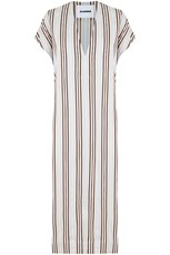 Jil Sander STRIPE V-NECK TUNIC DRESS MULTI