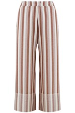 Jil Sander STRIPED CROPPED PANTS BRICK