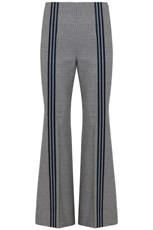 Maison Margiela TWEED PANTS WITH PINSTRIPE BLACK/WHITE