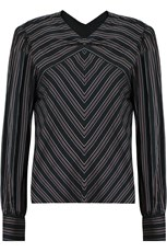Isabel Marant VAL STRIPE BLOUSE BLACK