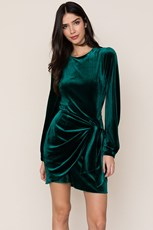 Yumi Kim Tie Me Over Velvet Dress Jewel Emerald Velvet